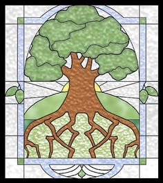 Tree of Life Stained Glass Celtic Quilt Pattern by Celtic Crossworks