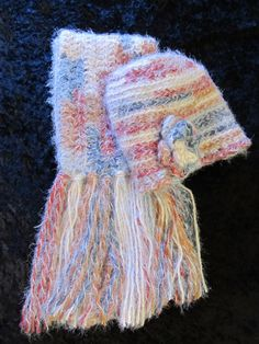 Multicolored Scarf and Hat Set by clriegs on Etsy, $50.00