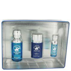 Beverly Hills Polo Club Sport Gift Set - 2.5 Ooz Eau De Toilette Spray + 1/2 oz Mini EDT Spray + 2.5 oz Deodorant stick