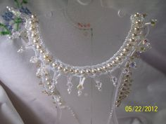 Gorgeous White Pearl and Crystal Necklace Special by gartenglitz, $22.00