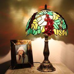 Grape Orchard Tiffany Bedside Lamp