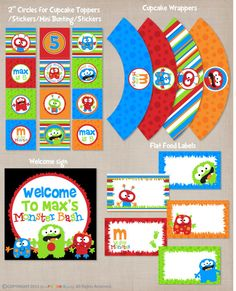 DELUXE Printable Boys Birthday Party Package by YourPrintableParty, $29.00