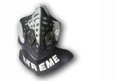 X-Treme™ Mask Sports - black/silver http://www.respro.com/products/urban-commuting/motorcycling/xtreme_mask/