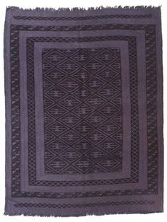 Vintage Overdyed Hand-Knotted Kilim by nuLOOM on Gilt Home