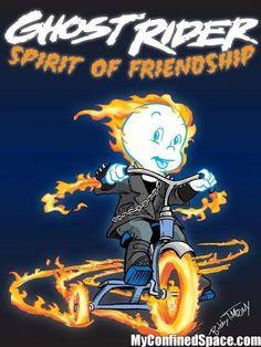 .Casper the friendly ghost rider