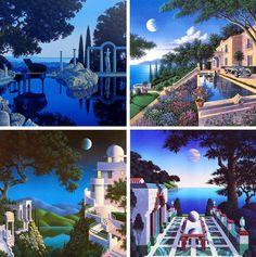 Sensual moonlight paintings from American artist Jim Buckels via Panther_Club