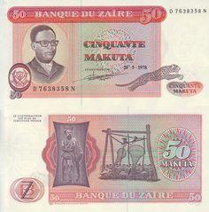 ZAIRE - 50 MAKUTAS 1978 #Banknote #Zaire