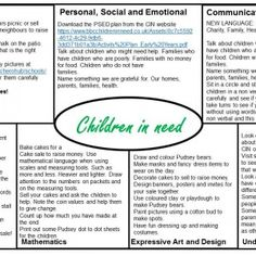 Children in Need EYFS Medium Term plan