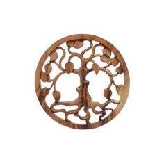 NOVICA Hand Carved Suar Wood Tree Wall Relief Panel from Bali ($55) ❤ liked on Polyvore featuring home, home decor, brown, relief panels, wall decor, inspirational home decor, bali home decor, novica home decor, wood home decor and novica