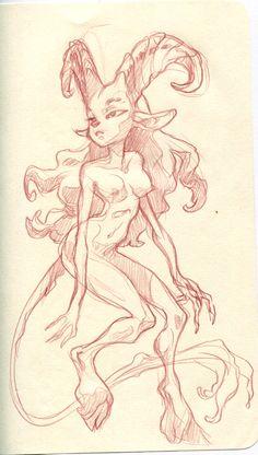 Angouleme sketchbook - satyr Like & Repin. Noelito Flow. Noel http://www.instagram.com/noelitoflow