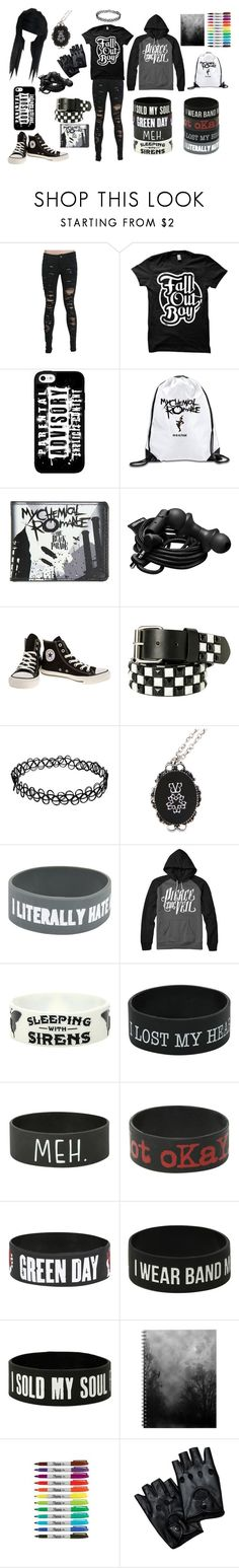 """Untitled #17"" by adriannablack ❤ liked on Polyvore featuring Urbanears, Converse and emo"