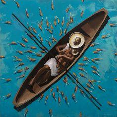 PEDRO RUIZ - Yo pescador - acrílico sobre madera Colombian Art, Ap Art, Tropical Vibes, Pretty Pictures, Home Art, Art Photography, Illustration Art, Sketches, Gallery
