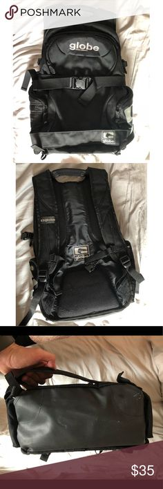 Globe Surf X Ogio Backpack Lightly Used Globe Footwear and Ogio Design bags Collaboration Backpack  Compartments for laptops and mobile devices. Also a waterproof compartment for surf gear. Straps to hold a skateboard as well. Globe Bags Backpacks
