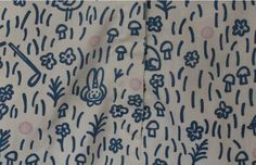 Detail from Vintage 70s The Vested Gentress Pro-Line Shorts Mushroom Hare Dandelion Print Fits XS