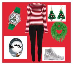 """""""Merry Christmas"""" by springqueen1-hello on Polyvore featuring River Island, Sonia Rykiel, Mixit and Converse"""