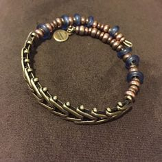 ALEX & ANI Rare Beaded Cuff Wrap Bracelet Gently loved. Some discoloration but it doesn't look bad. Guaranteed authentic. Some blue beads missing. Great addition to your collection! Alex & Ani Jewelry Bracelets