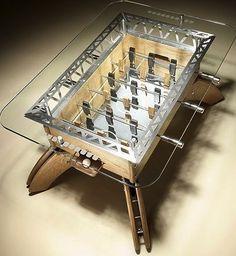 This fooseball table