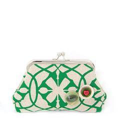 Suzie Qu clutch purse in Emerald green