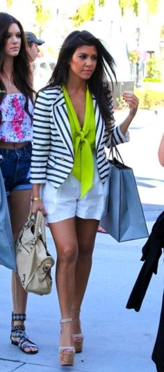 Black & White Stripes With Neon
