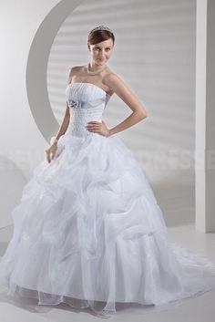 Satin Strapless Unique Bridal Dress - Order Link: http://www.theweddingdresses.com/satin-strapless-unique-bridal-dress-twdn3948.html - Embellishments: Beading; Length: Floor Length; Fabric: Satin; Waist: Natural - Price: 142.3524USD