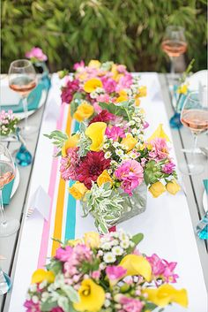 Washi Tape Table Runner and Backdrop | 37 Things To DIY Instead Of Buy For Your Wedding