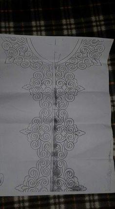 Border Embroidery Designs, Applique Designs, Embroidery Patterns, Shirt Embroidery, Ribbon Embroidery, Cross Stitch Embroidery, Bordados Tambour, Tattoo Dentelle, Pattern Art