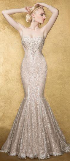 Yumi Katsura Couture Bridal Gown - Centauri  love the beadwork