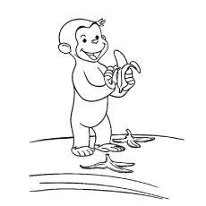 coco der neugierige affe 11 | coco | affe malen, ausmalbilder kinder und affen