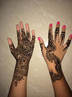 Summertime-- Heena reduces body heat during hot summers n neon nail color adds to the summer fun!!