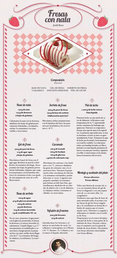 Fresas con nata. Receta de Jordi Roca