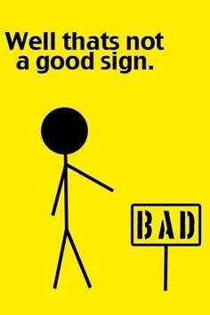 not a good sign