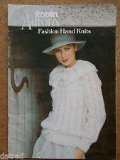 Vintage ROBIN AURORA Knitting Pattern Book fashion hand knits 1980s