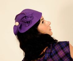 CURLY LITTLE PURPLE by RetroReproHandmade on Etsy, $85.00
