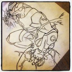 Sleeve of avengers I get to tattoo