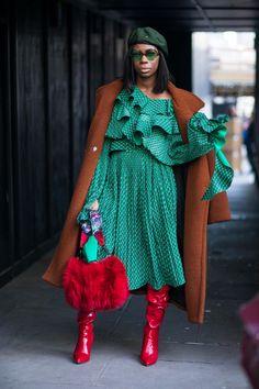 BG STREET STYLE/Sade Akinosho at LFW FW18/Chiara Marina Grioni Fashionista
