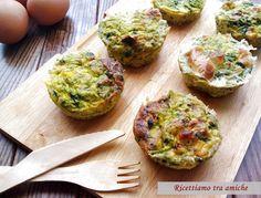 Muffin di frittata con cime di rapa sfiziose e facili da preparare.