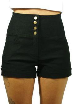Sidecca Juniors Retro Rockabilly 4-Button High Waist Cuff Short-Black-Large Sidecca http://www.amazon.com/dp/B00GF8TKKW/ref=cm_sw_r_pi_dp_pQB5tb1CH902E