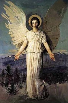 Famous Angel Paintings | Famous Guardian Angel Paintings Abbott thayer's 1919 painting,