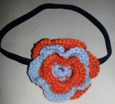 Hairband with a crochet flower. Crochet Flowers, Hair Band, Crochet Necklace, Unique, Jewelry, Fashion, Moda, Jewlery, Jewerly