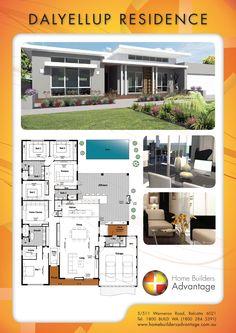 Home Builders Advantage- Perth's Biggest Building Broker- Single Storey Home Designs- Modern Style Skillion Roof Elevation- www.homebuildersadvantage.com.au