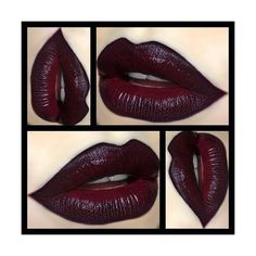 Gothic Charm School pretty things ❤ liked on Polyvore featuring beauty products, makeup, lip makeup and lips