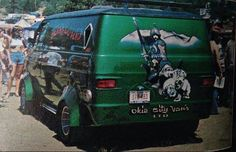 """First incarnation of """"Warlord"""" a 1975 Dodge customized show Van"""