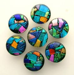 Funky! $32/ea -Unique Mosaic Glass Knob Cabinet Hardware by Etsy Seller: UneekGlassFusions