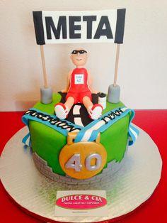 maratón 70th Birthday Cake, 40th Cake, Fab Cakes, Sweet 16 Cakes, Running Cake, Bike Cakes, Love Cake, Celebration Cakes, Food To Make