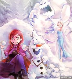 """Anna, Elsa And Olaf """"Come And Play!!"""""""