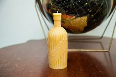 Antique Bottle Beeswax Candle Collection Large Poison