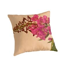 Fireweed Macro - Pillow Design by Sandra Foster.