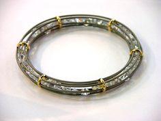 Bracelet: gold, stainless steel, zircons  www.i-techne.pl