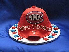 Gâteau des Canadiens par Ronda! #Canadiens #HockeyBecSucre #SucreRedpath