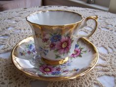 ELIZABETHAN Cup and Saucer, fine bone china